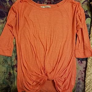 Maurices coral 3/4 knot front top